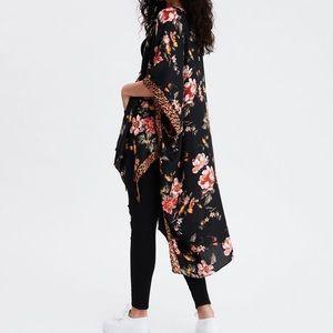 Kimono floral print